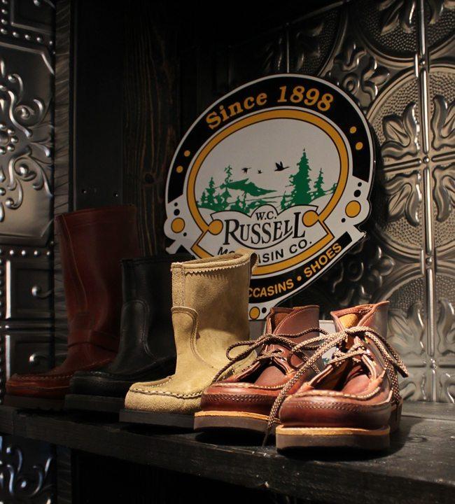 botas russell mocassin feitas nos estados unidos