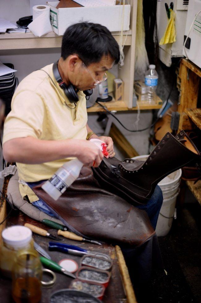 bota russell mocassin feita à mão