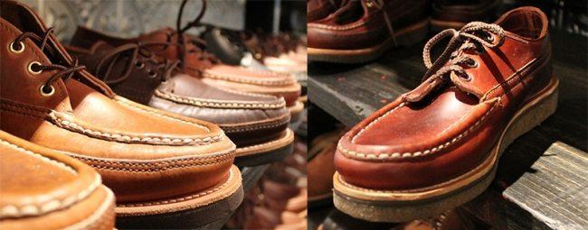 botas moc toe feitas à mão pela russell mocassin