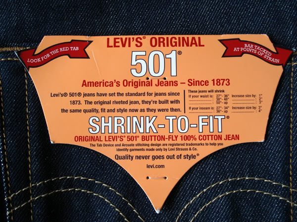 Levi's 501 Shrink to Fit