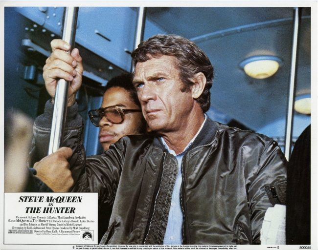 steve mcqueen jaqueta ma-1 em the hunter