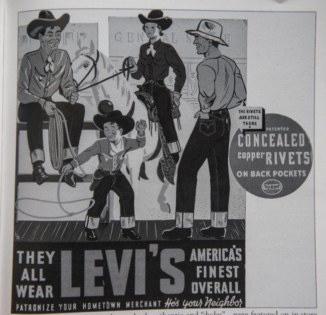 Anúncio western da Levi´s de 1930