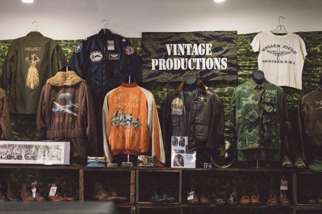 Vintage Productions com jaquetas militares na feira Inspiration LA