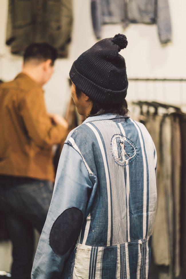 Shop Coat Indigo customizado com tecidos vintage pela Medicine Man