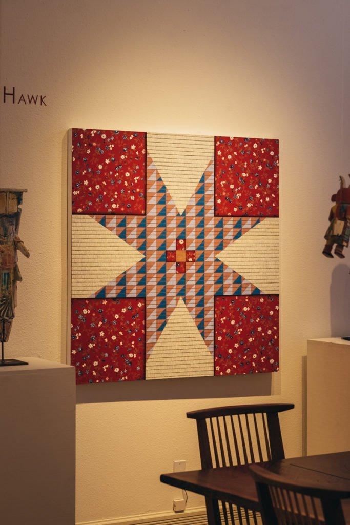 Arte nativo americana na galeria Ship Rock Santa Fé