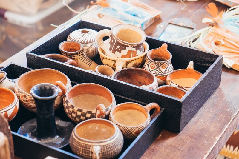 Cerâmicas nativo americanas na Galeria Shiprock Santa Fe