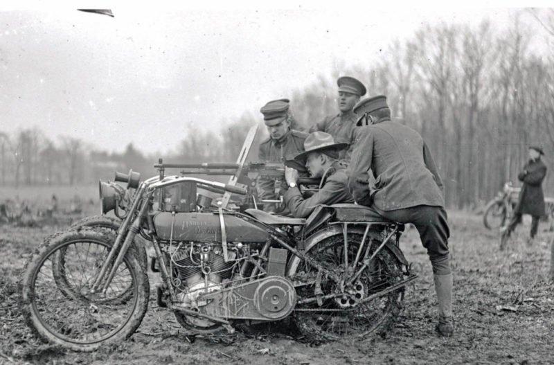 US Army Harley-Davidson na Primeira Guerra Mundial.