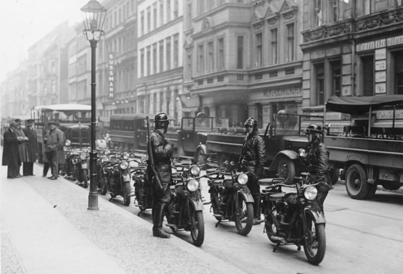 Motocicletas na Segunda Guerra Mundial em Berlin