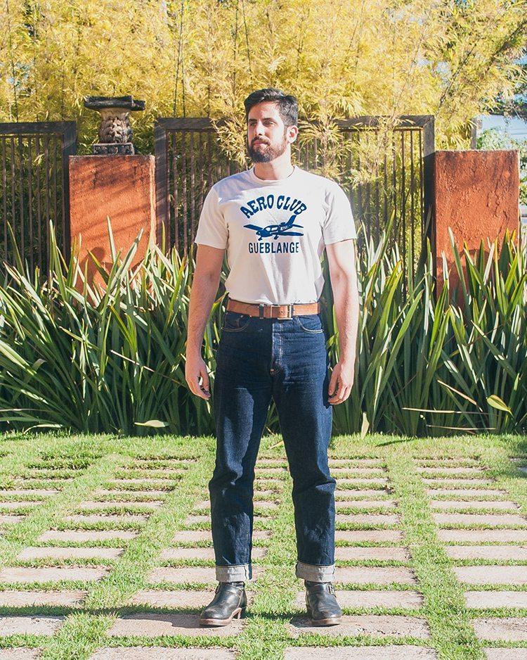 Jeans Levis Vintage Clothing 1933 unsanforized após ficar de molho