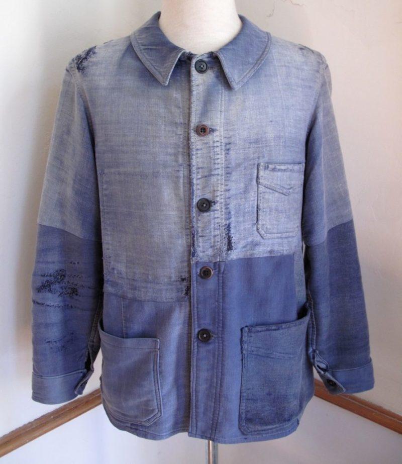 Jaqueta azul francesa vintage
