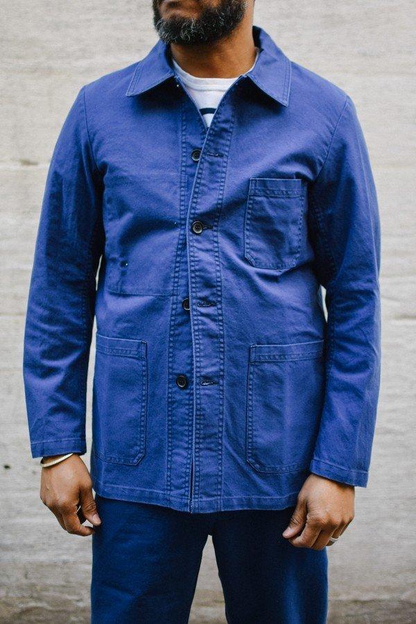 Jaqueta Worker Azul  Como usar a Les Bleus de Travail b8035ca7669f0