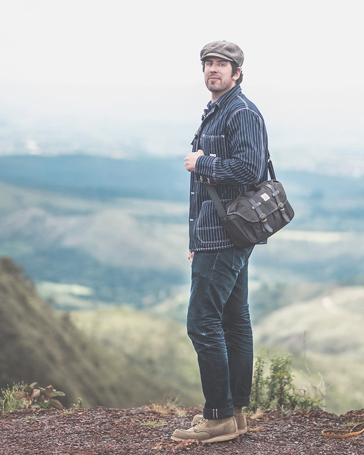 Bolsa Fotografica Traveller Cutterman Preta - Jeans 3Sixteen Shadow Selvege - Casaco Wabash