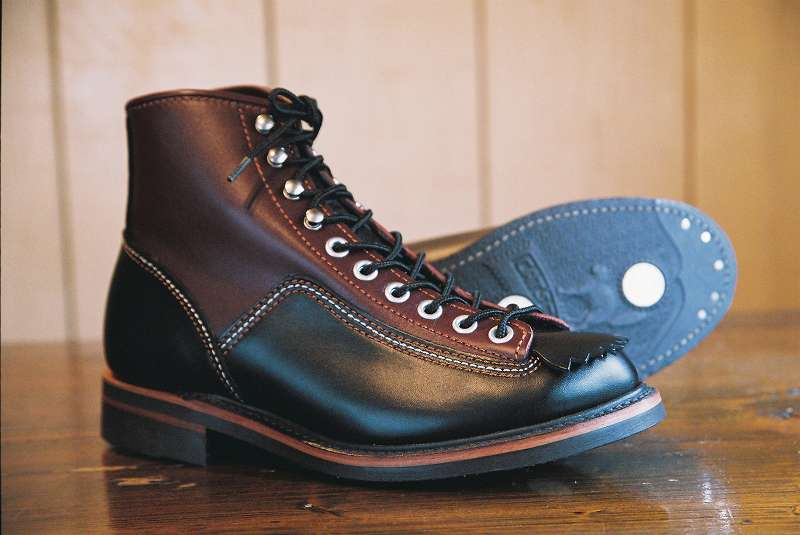 bota lone wolf carpenter lace to toe