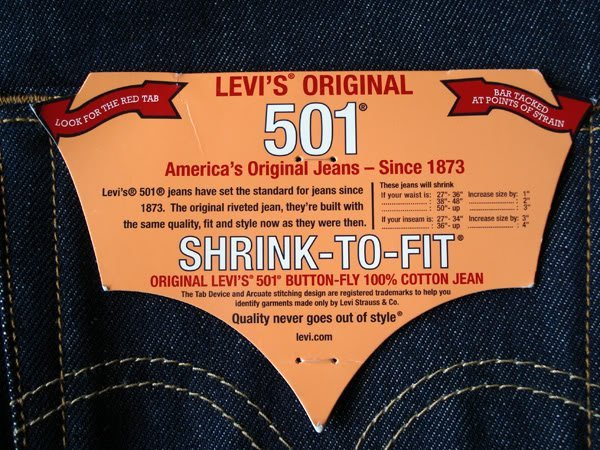 levis 501 denim shrink to fit