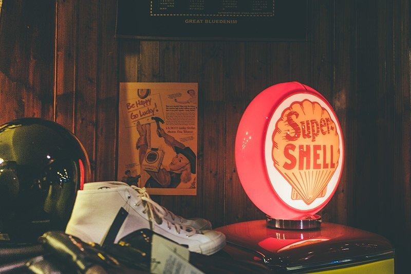 lanterna Shell vintage