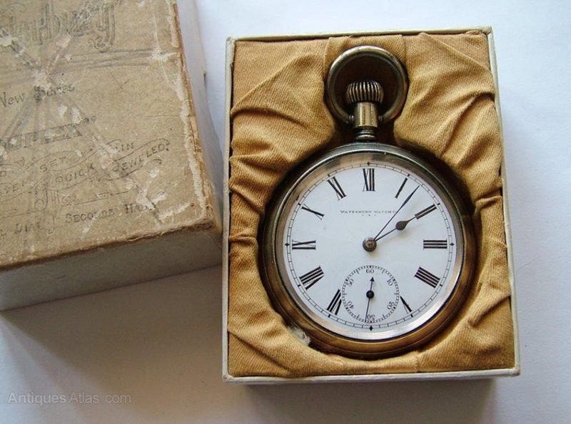 relógio de bolso waterbury de 1880