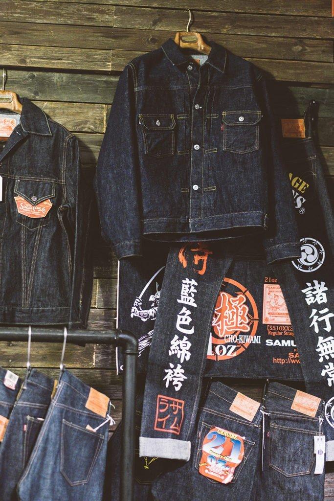 Jaquetas raw denim e jeans selvedge na Code7 Moscow