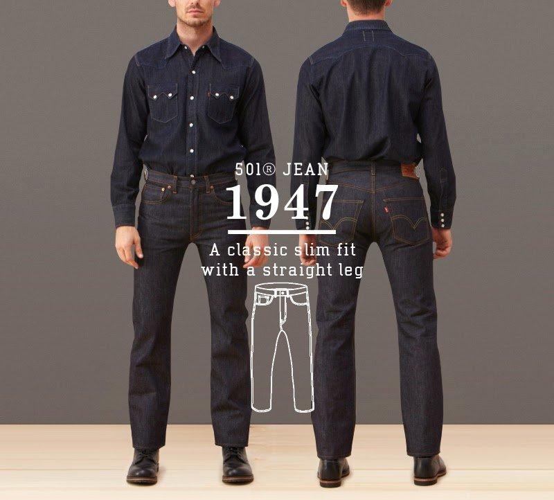 Calça Jeans Levis 501 1947