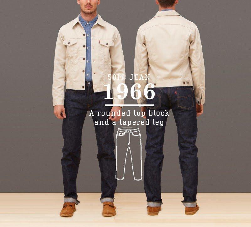 Calça Jeans Levis 501 1966