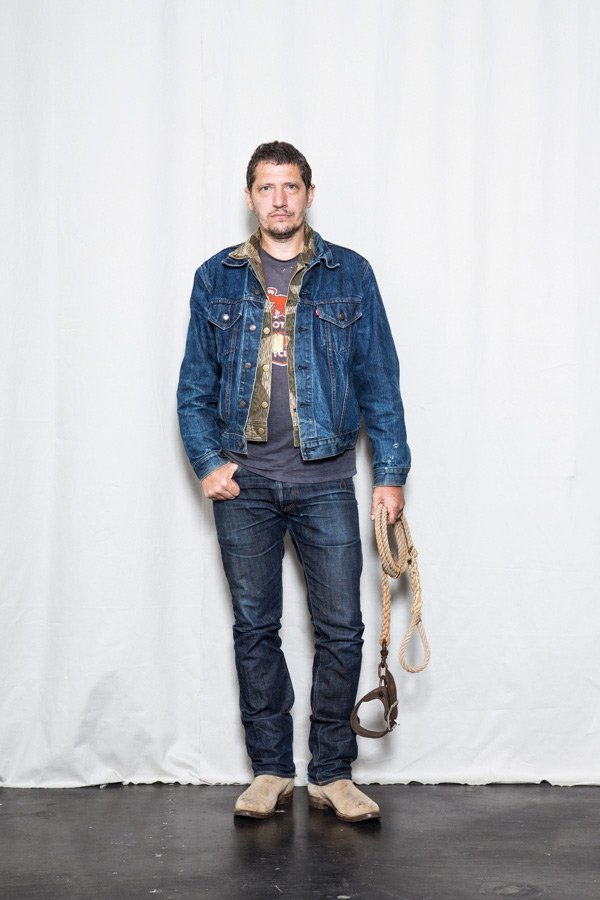 jaqueta jeans levis type 3