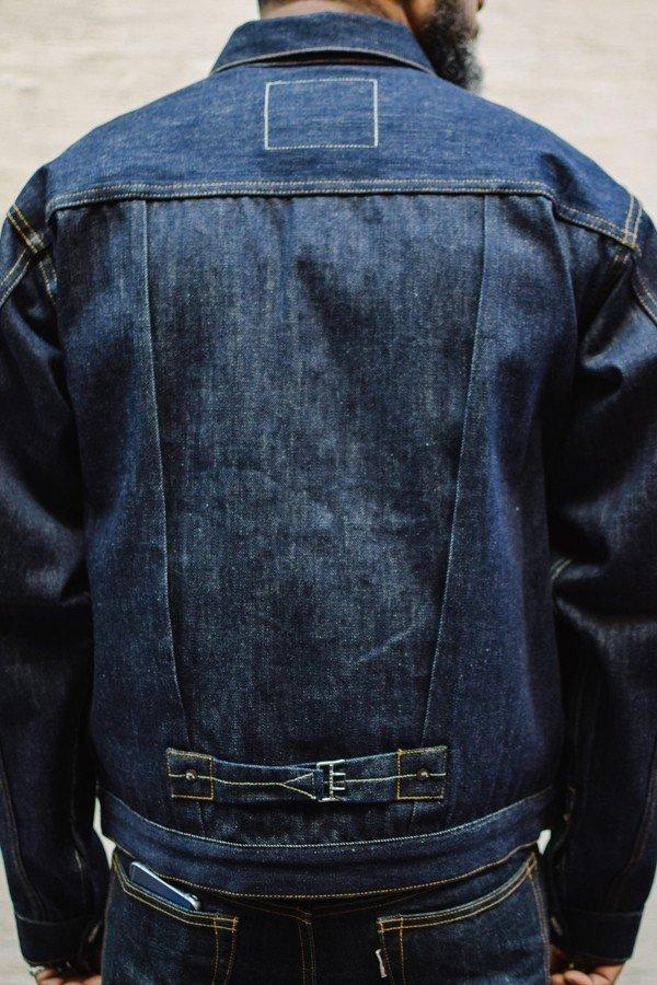 jaqueta jeans levis type 1 fivela