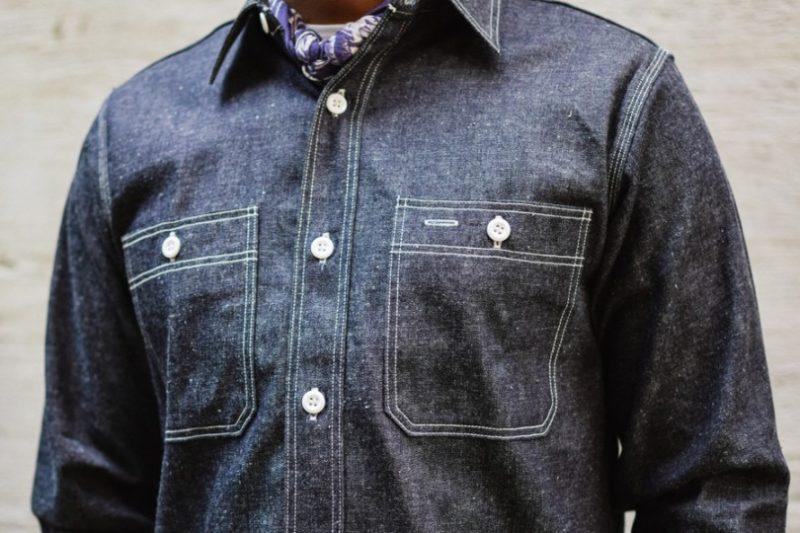 camisa worker costura tripla