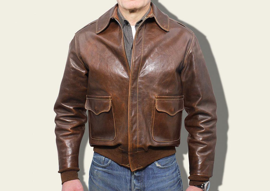 jaqueta de couro a2 eastman