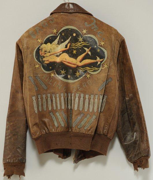 jaqueta bomber de piloto na segunda guerra
