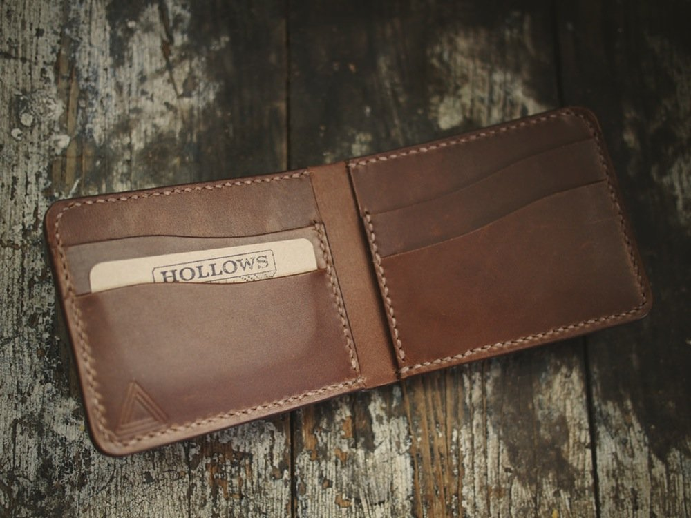 carteira hollows leather