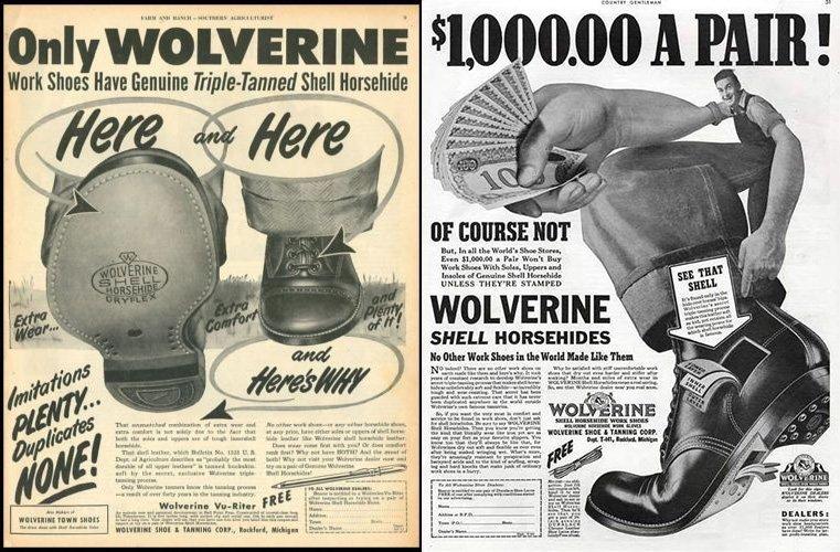 anuncio antigo de botas