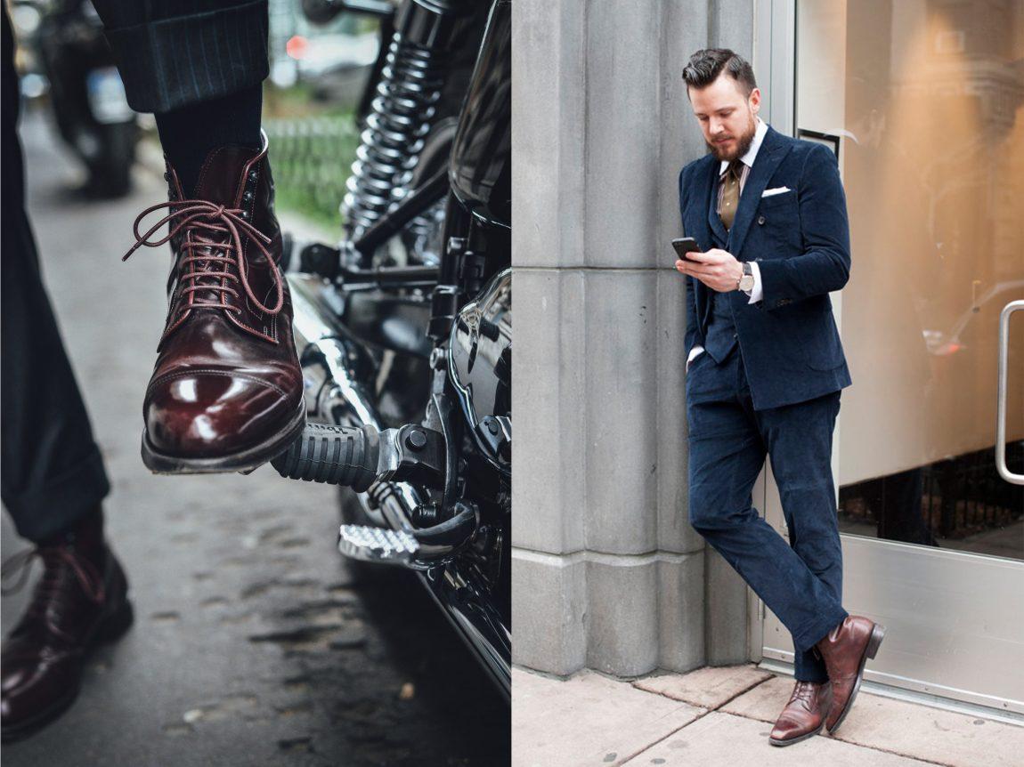 bota masculina derby com terno