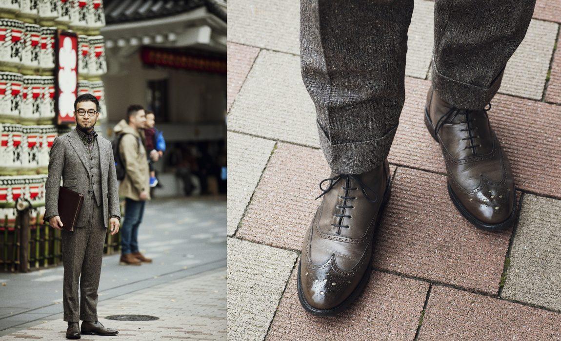 bota masculina oxford com terno