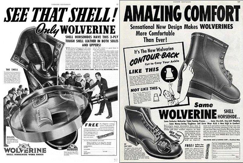 botas wolverine 1000 miles anuncio vintage