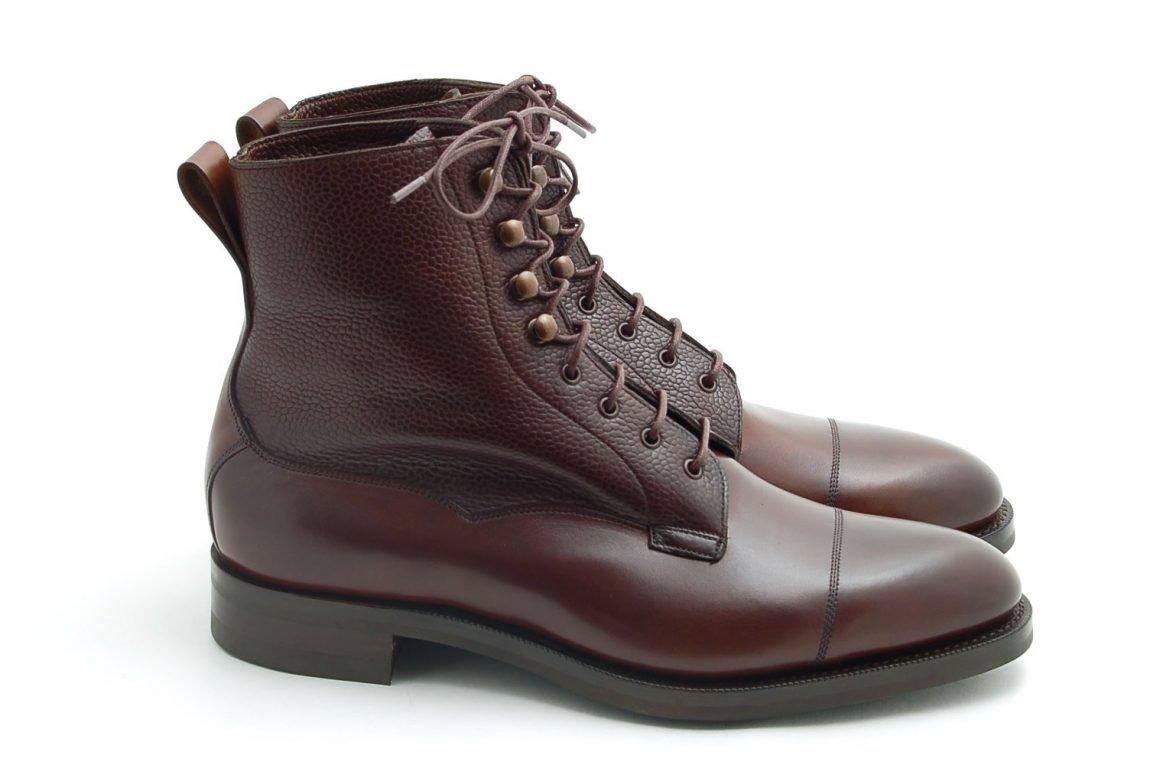 botas masculinas derby de couro marrom