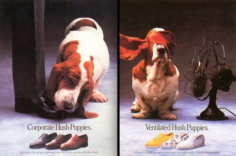 hush puppies anos 90