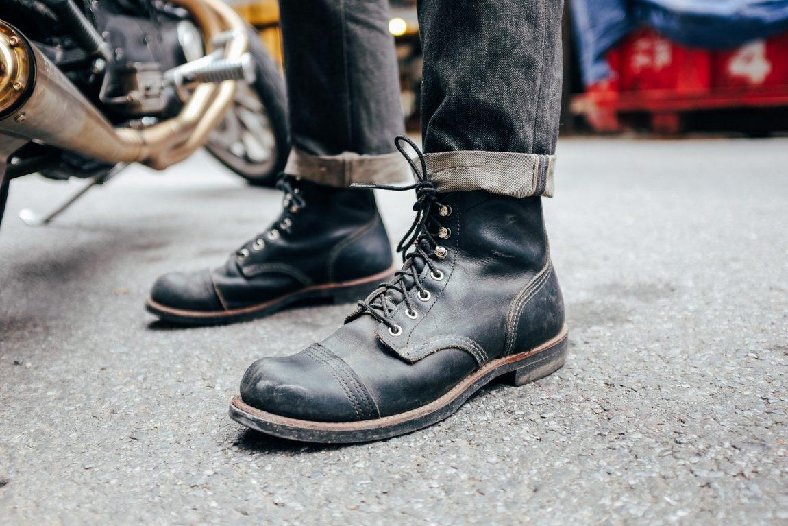 botas masculinas iron ranger pretas