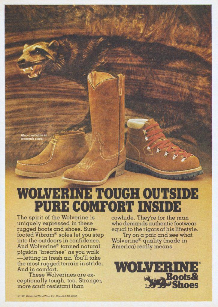 anúncio da linha diversificada da Wolverine Boots