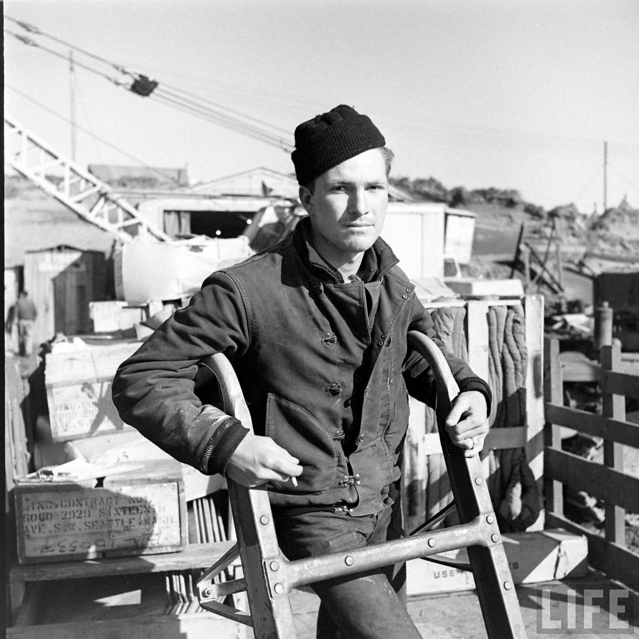 "Jaqueta ""deck jacket"" marinha estados Unidos Segunda Guerra"