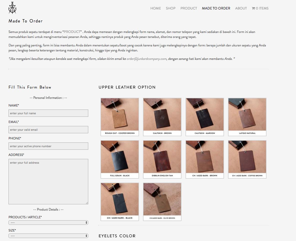 site de botas da indonesia