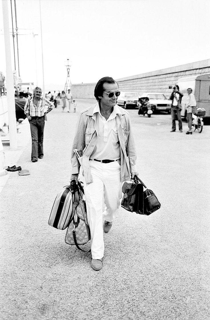 Jack Nicholson chegando em St. Tropez, 1976