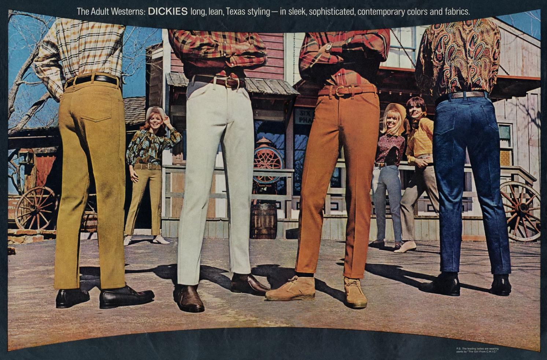 Anúncio antigo da Dickies nos anos 70