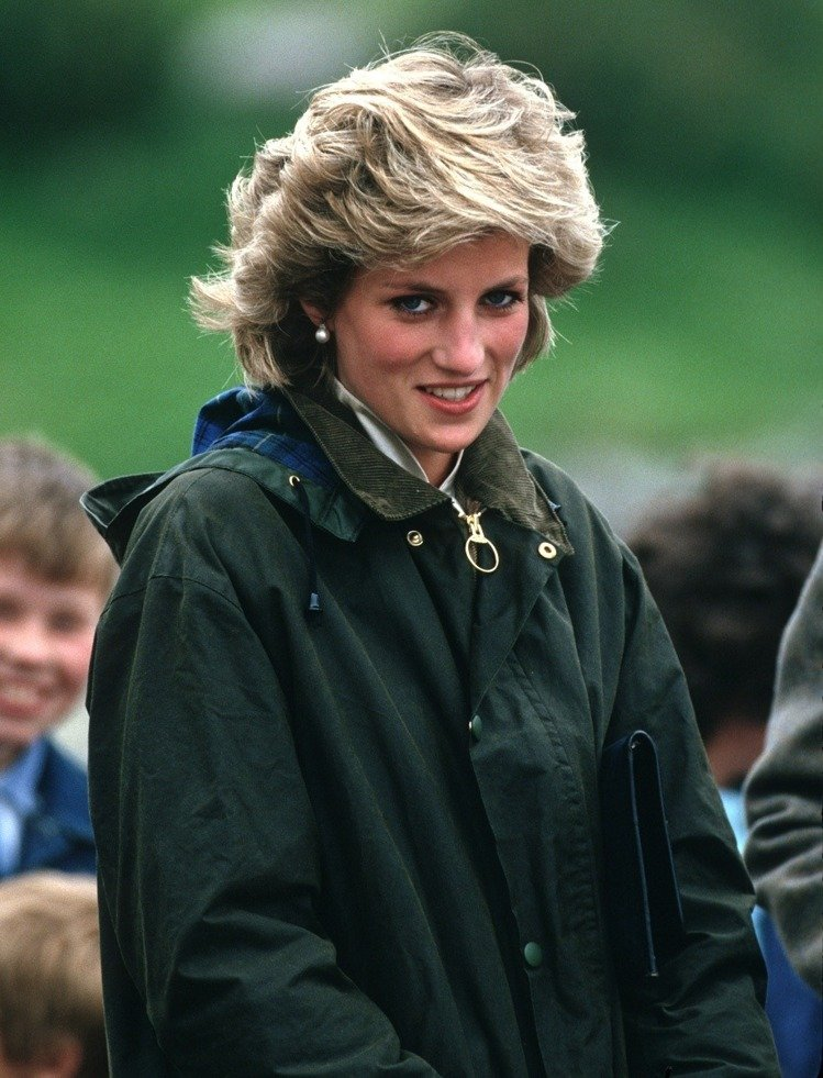 Princesa Diana de jaqueta Barbour
