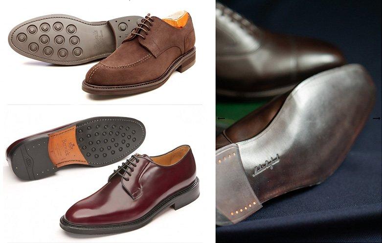 sapatos sociais masculinos - tipos de sola