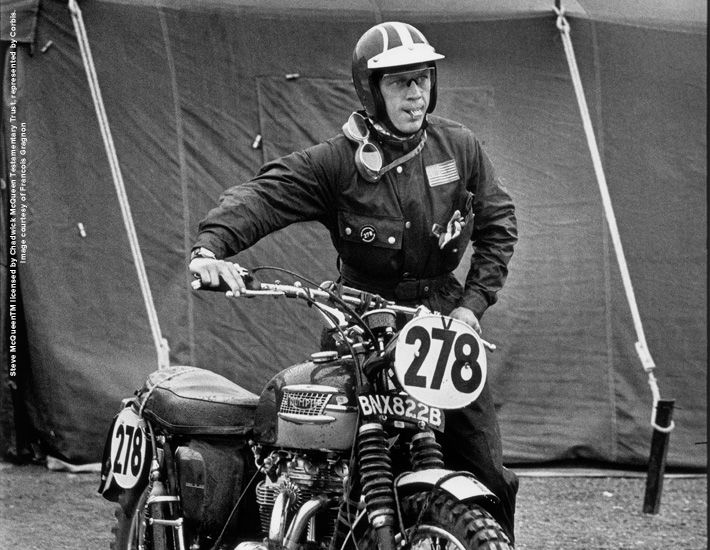 Steve McQueen com a jaqueta Barbour International
