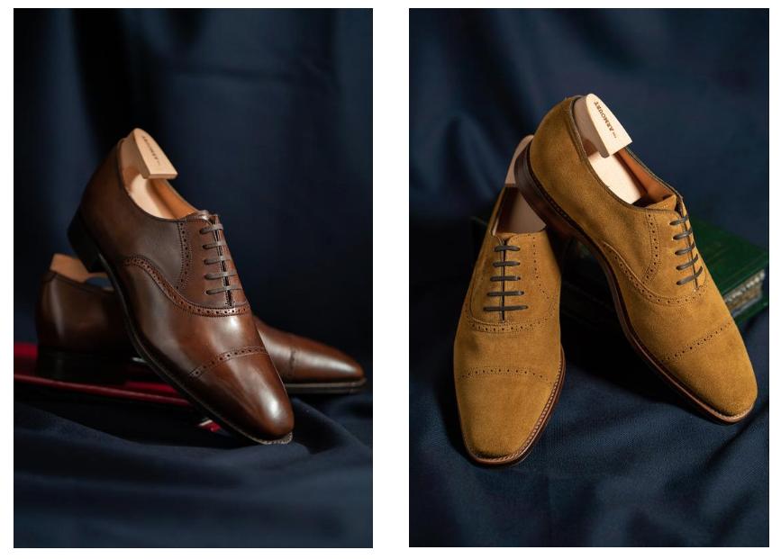 sapatos sociais masculinos - tipo de couro