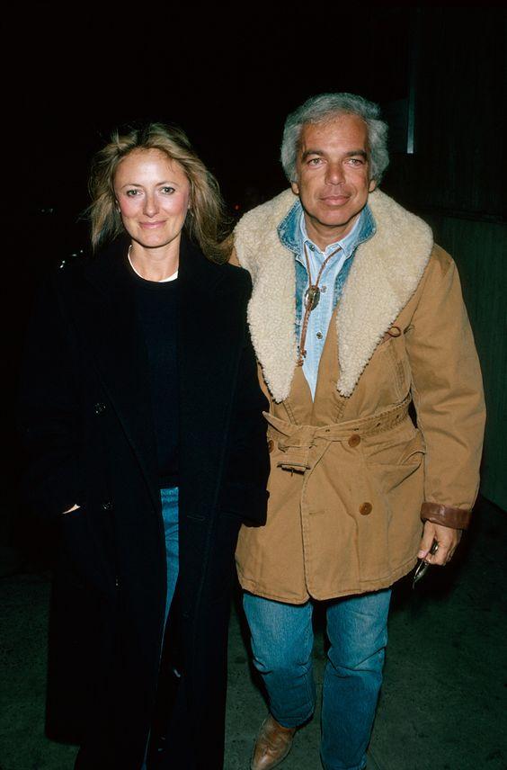 Ralph Lauren e esposa
