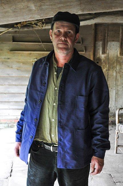 Jaqueta de moleskine azul Le Laboureur
