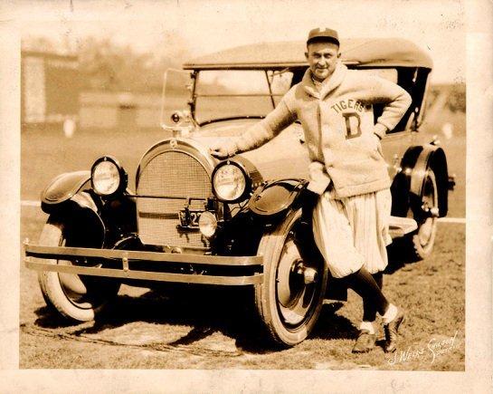 Suéter do Detroid Tigers em uma foto da década de 1920