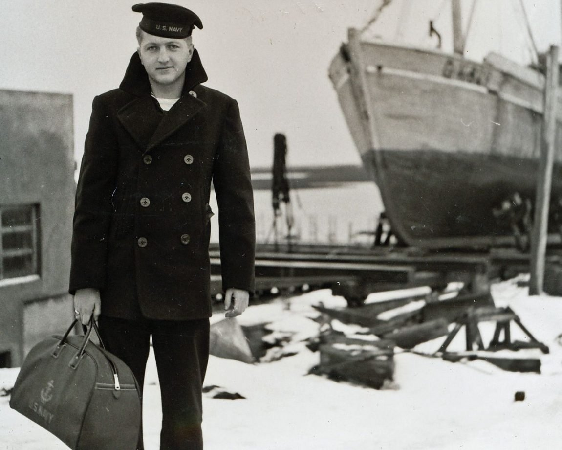 peacoat masculino dos anos 50