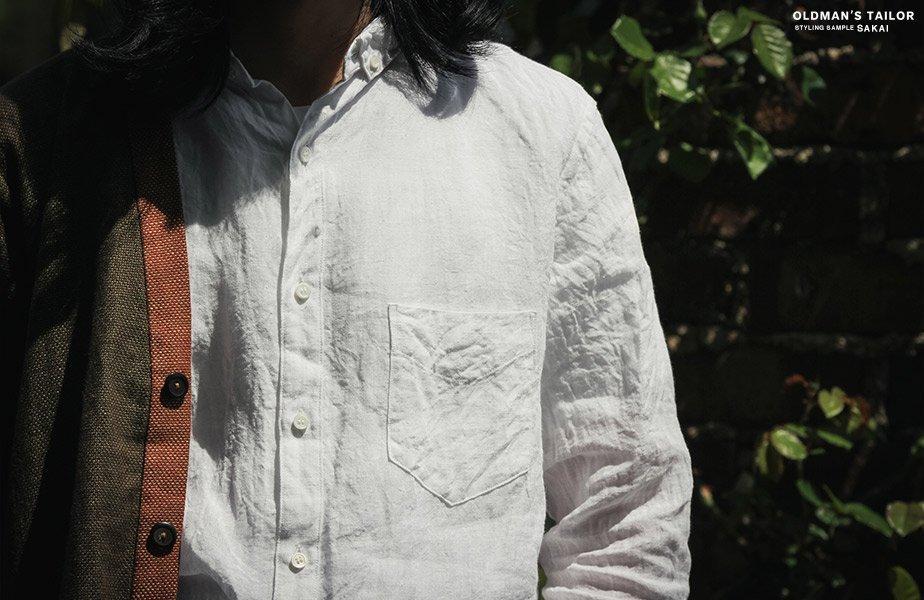 camisa masculina de linho